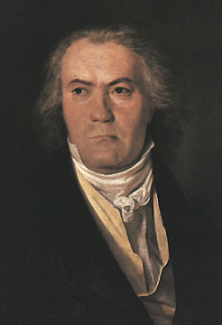 Painting of Beethoven in 1827